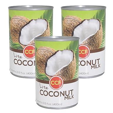 Tailandia de coco produccioen de leche Light 3 latas