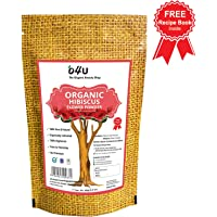 100% Pure, Natural O4U Organic Hibiscus Powder for Face and Hair Care, 100 g