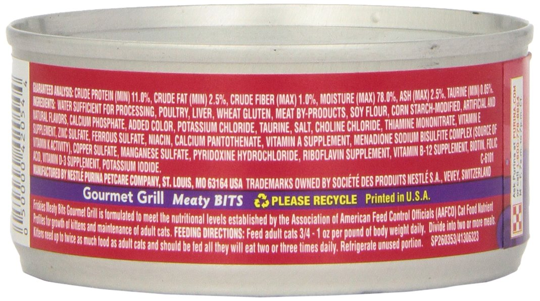Purina Friskies Meaty Bits Gourmet Grill in Gravy Adult Wet Cat Food – 24 5.5 oz. Cans