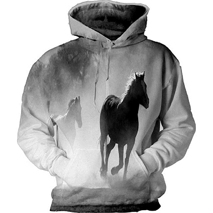 3D Horse Hoodie Print Hooded Sweatshirt Men \Women Hooded Warm Home Service New Mens Hoodies Cotton Casual Hoodies at Amazon Mens Clothing store: