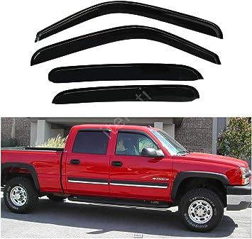 For Chevy Silverado 1500 Classic 07 Window Deflectors Tape-On Standard Ventvisor
