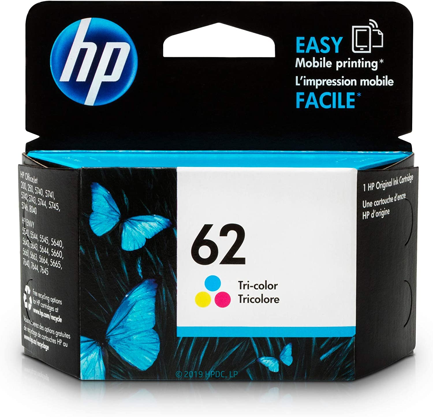 HP 62 | Ink Cartridge | Tri-color | C2P06AN, Single: Office Products