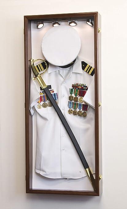 Amazon.com: Military Shadow Box Display Case Uniform Cap Hat Sword ...