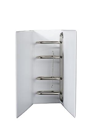 Archivadores DIN A5 4 unidades mecanismo PVC en blanco lomo de 80 mm, altura de relleno 65 mm, 2 unidades): Amazon.es: Oficina y papelería