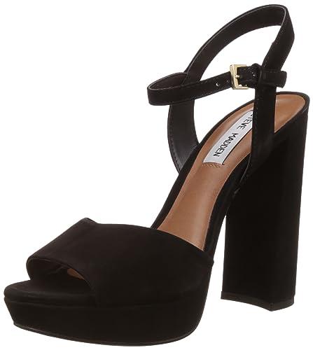 c034285296c6 Steve Madden Women s Kierra Black Nubuck Sandal ...