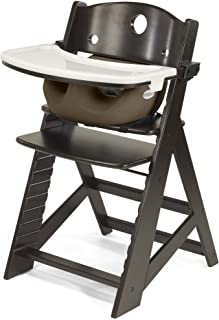 product image for Keekaroo Height Right High Chair with Infant Insert & Tray, Espresso/Chocolate