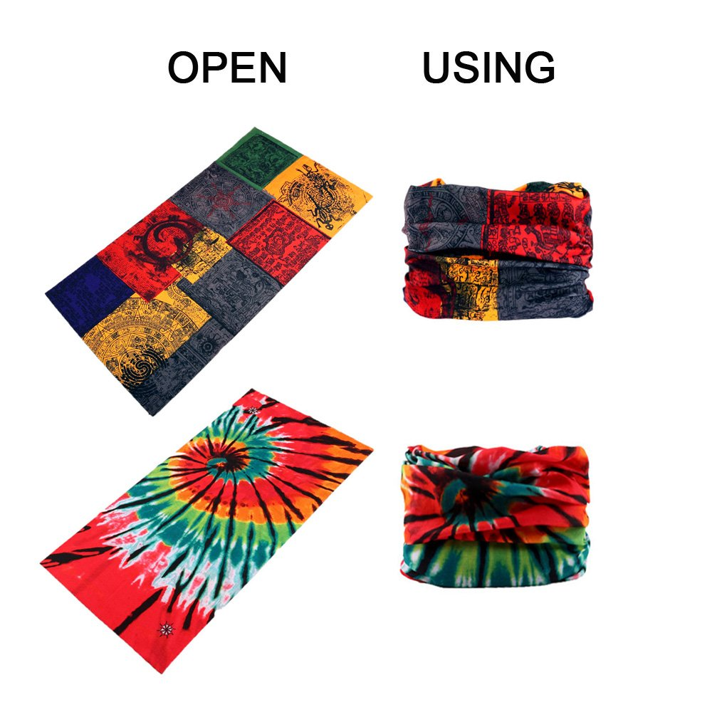 Headwrap 9-Pack Headband /& Bandanna 16-in-1 Multifunctional Telescopic Seamless Scarf Facemask for Outdoor Leisure Activities Godspeed Headwear