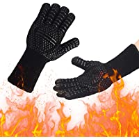 Barbecuehandschoenen, hittebestendige, grillhandschoenen met 800 °C, extreem hittebestendige, antislip ovenhandschoenen…