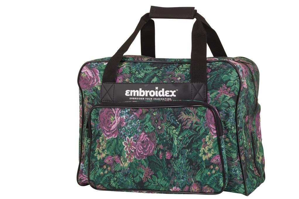 Floral Sewing Machine Carrying Case - Carry Tote/Bag Universal by Embroidex