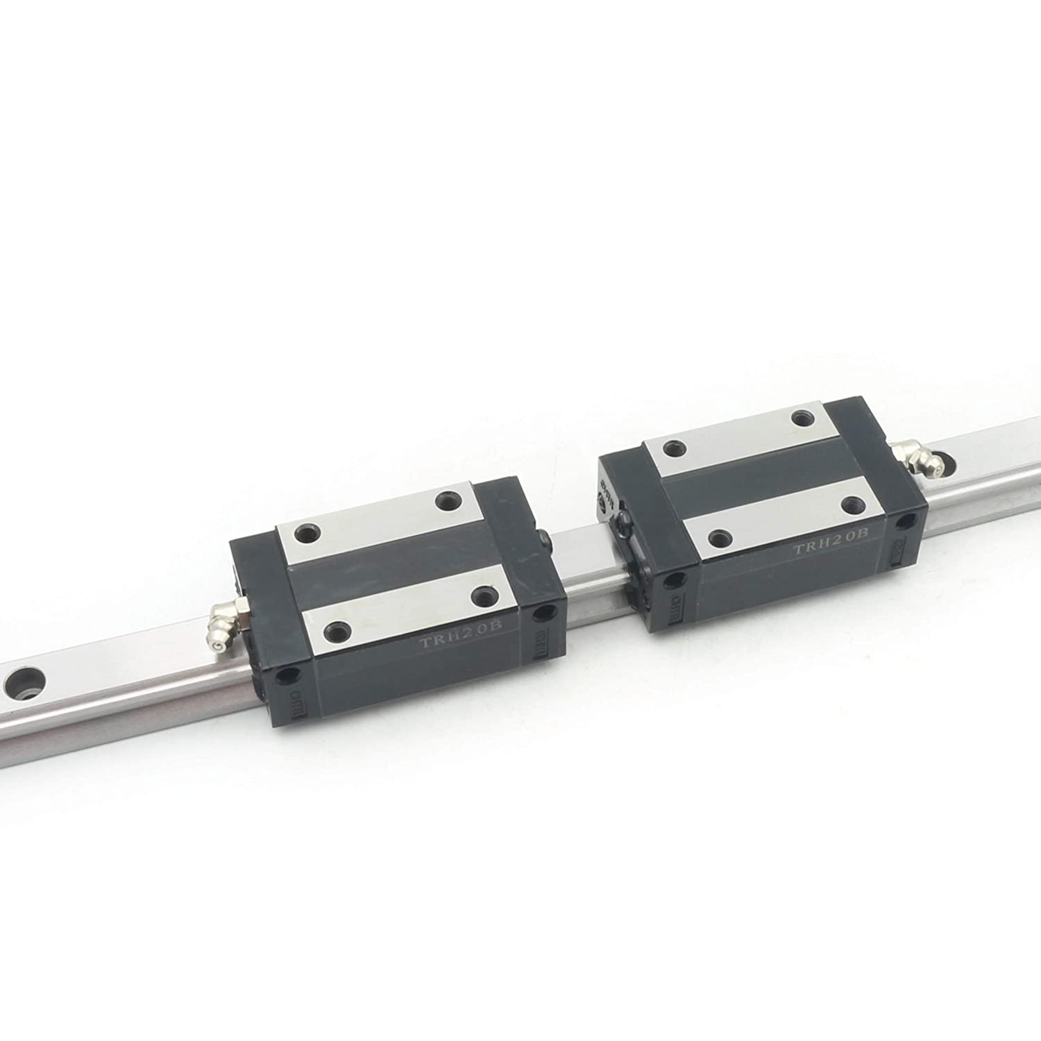 【US Stock】TRH20 Square Linear Guide Rail 400mm for CNC Machine+TRH20B Carriage