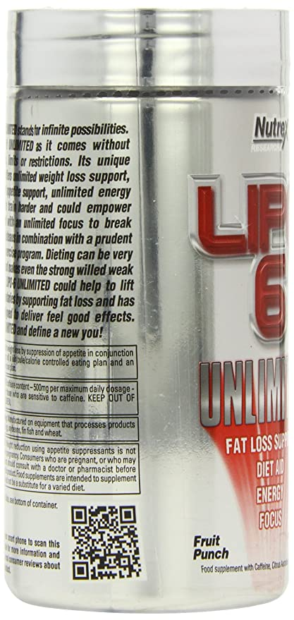 Nutrex Research Unlimited Fruit Punch 150g Lipo 6 Amazon Co Uk