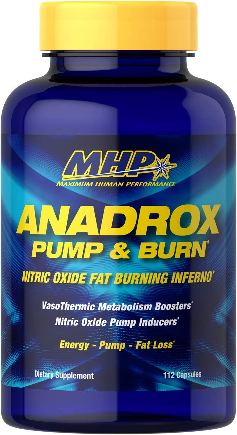 MHP Anadrox Pump & Burn, Nitric Oxide Fat Burning Inferno, 112 capsules: Health & Personal Care