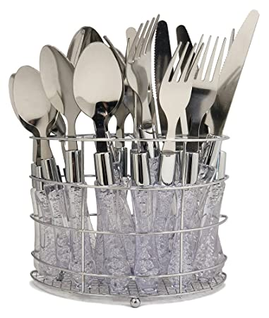 Wees Beyond 5593-20 Value Pack 2-in-1 Chrome Rack + Flatware