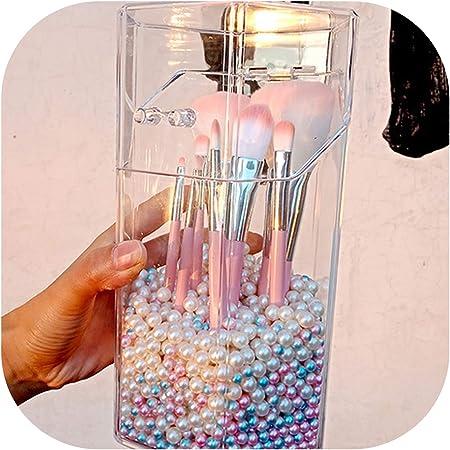 W-boll Caja de Almacenamiento acrílico para brochas de Maquillaje, contenedor de brochas de Belleza, contenedor de Pinceles, contenedor de Escritorio sin Cepillo: Amazon.es: Hogar
