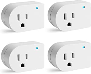 Single Surge Protector Plug, Grounded Outlet Wall Tap Adapter with Indicator Light, 1 Outlet,245J/125V, UL, White, 4Pack