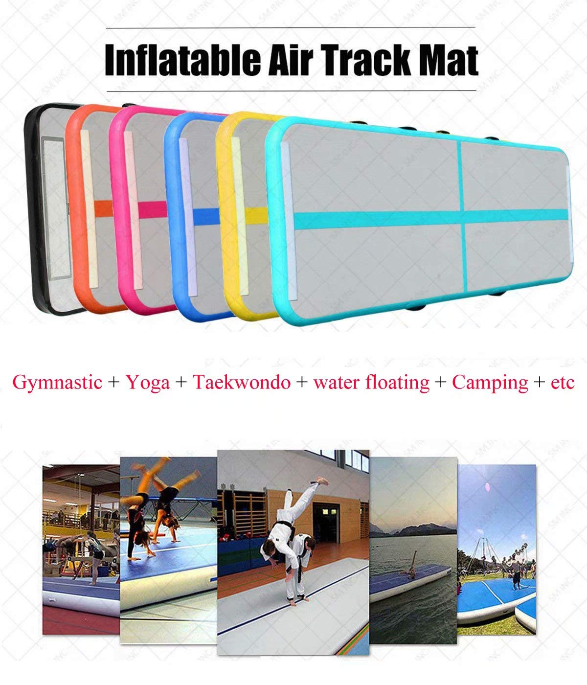 Cotogo 2.95 ft //3.28 feet Wide Air Track Connector Tape Gray for Inflatable Airtrack Tumbling Gymnastic Gray, 3.28ft//1M wide Yoga Taekwondo //Camping Training mat