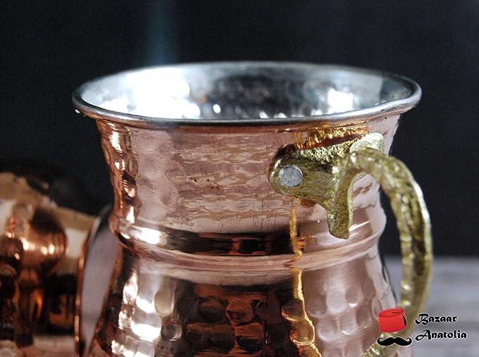 Regular Size Mug, Original Turkish Handmade Vintage Hammered Solid Copper Bowl