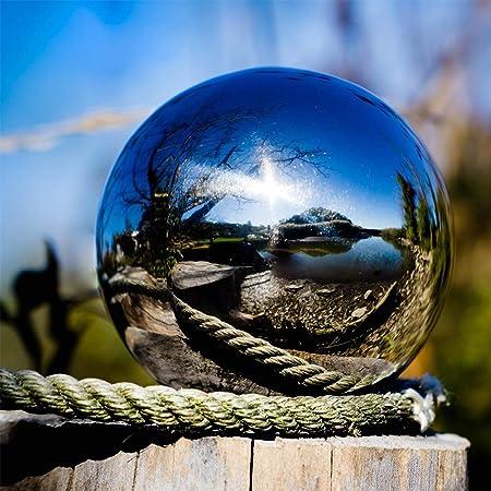 Yongirl Gaze Ball 304 Ruban en Acier Inoxydable Creux Boule Globes Flottant /Étang Boules Miroir Poli Sph/ère sans Couture Jardin D/écoration Ornement
