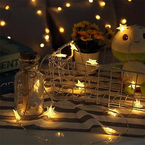 Luci Di Natale In Camera.Wqrtt Luci Di Fairy Stelle Luci Della Tenda Per Le