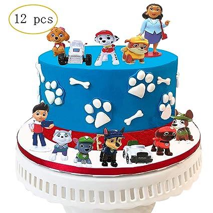 12 figuras decorativas para tartas, diseño de perro de la ...