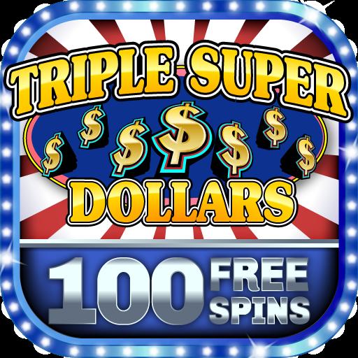 (Slot Machine - Triple Super Dollars Free Vintage Casino Game)