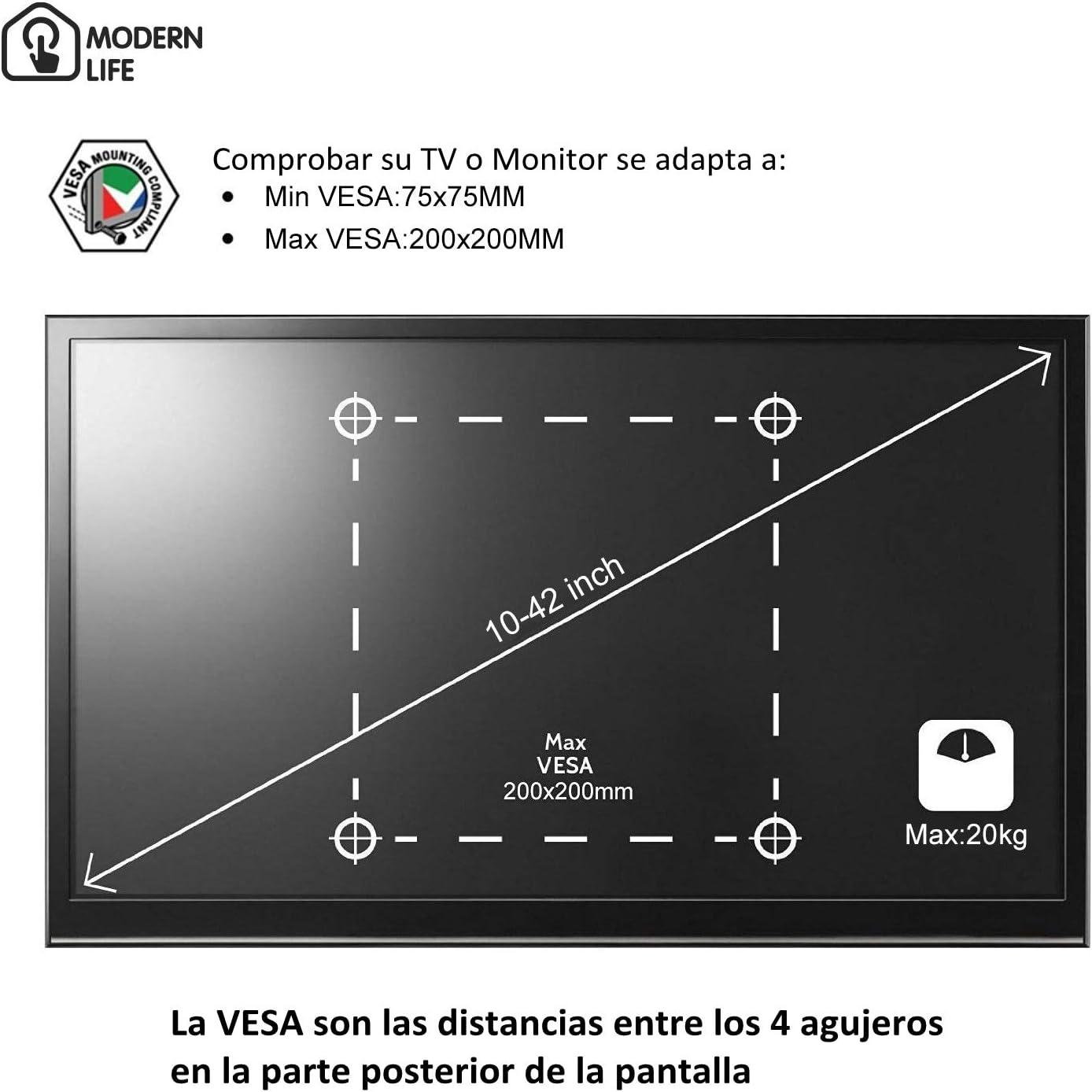 MODERN LIFE Soporte de Pared para TV 14-37 Pulgadas(35-94cm ...