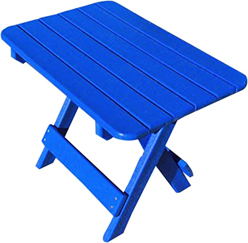Phat Tommy Recycled Poly Resin Folding Side Table Durable Eco-Friendly. This Patio Furniture is Great