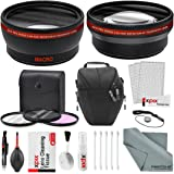 58MM 2.2x Telephoto and 0.43X Wide Angle High Definition w/ Deluxe Photo and Travel Bag for CANON REBEL (T6T6s T6i T5i T4i T3i T3 T2i T1i XT XTi XSi), EOS (700D 650D 600D 1100D 550D 500D 100D)