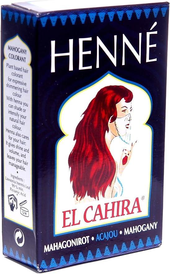 El Cahira – Henna caoba rojo – caoba – Acajou 3 unidades (3 ...