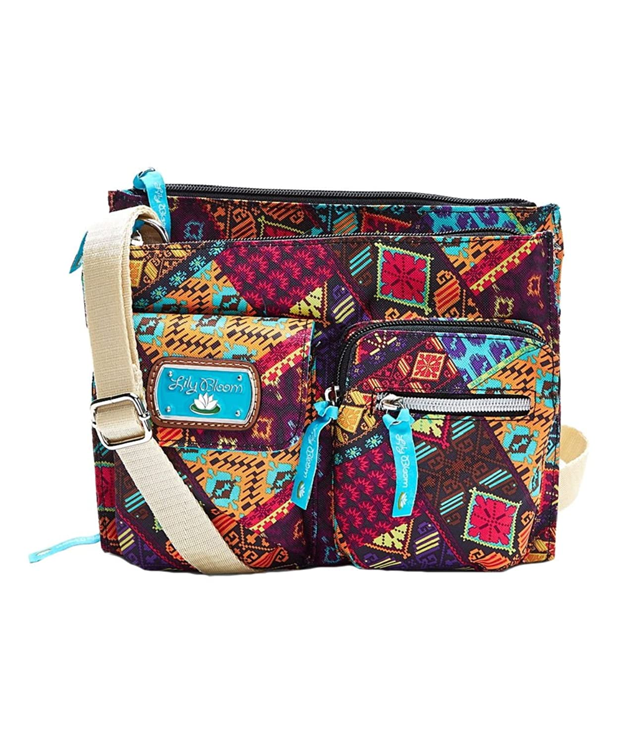 Lily Bloom Patched Shapes Regina Crossbody Bag