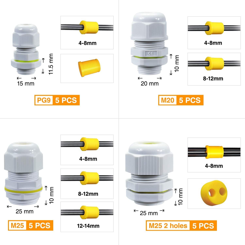 SOMELINE Connecteurs Presse-/étoupe FSJXTX20W