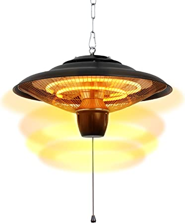 Amazon Com Donyer Power 1500w Electrical Patio Heater Ceiling Mounted Outdoor Or Indoor Use Garden Outdoor