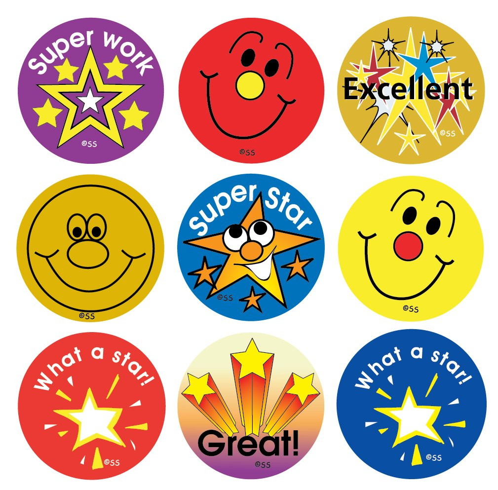 Best selling stars and smiles children 39 s reward stickers for Stickers de pared