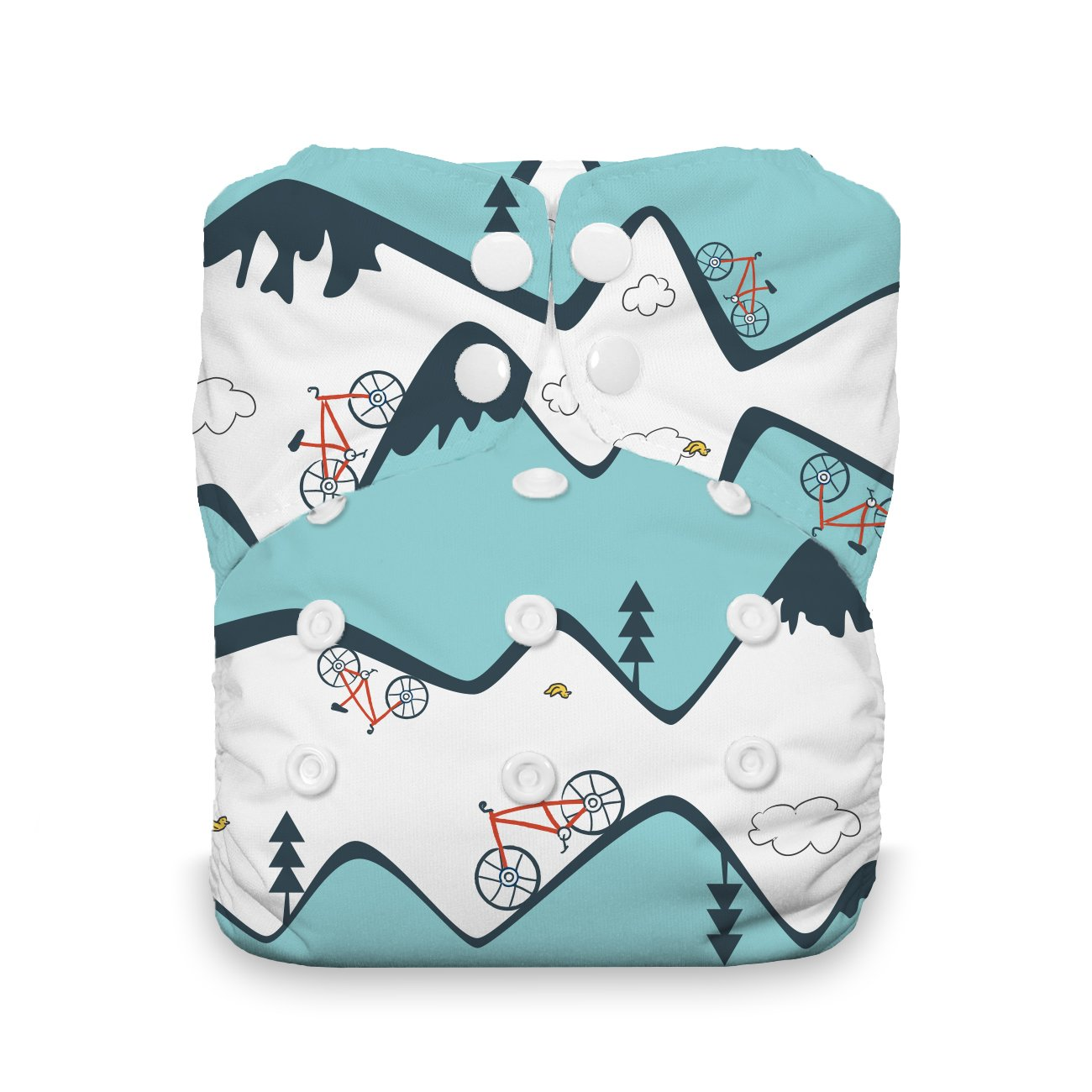 Adventure Trail Thirsties Snap Natural One Size All in One