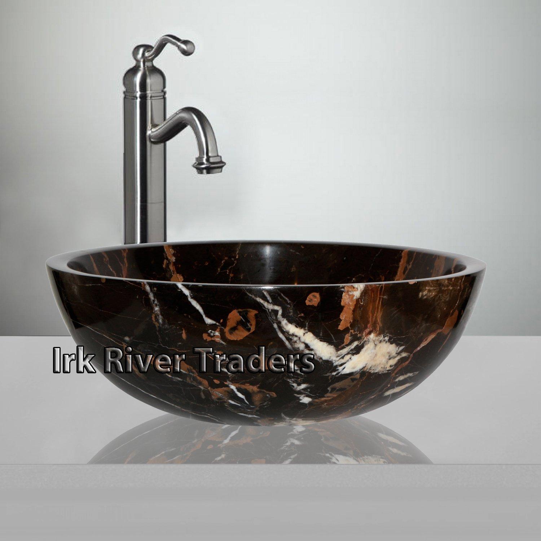 bowl bathroom sinks. Natural Marble Stone Basin Sink Bathroom Cloakroom Counter Top Wash Bowl Bath Countertop Round 16\ Sinks R