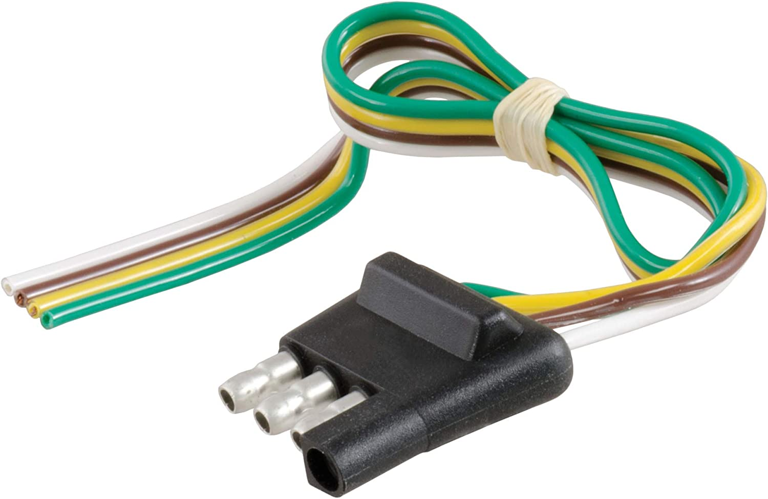 [SCHEMATICS_4ER]  Amazon.com: CURT 58030 Trailer-Side 4-Pin Flat Wiring Harness with 12-Inch  Wires: Automotive | Round Wire Harness Plug Truck 5 |  | Amazon.com