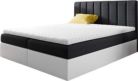 Cama con somier Govi tapizada con 2 cajones, cama doble con ...