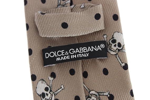 Dolce & Gabbana - Corbata estampada de calavera beige: Amazon.es ...