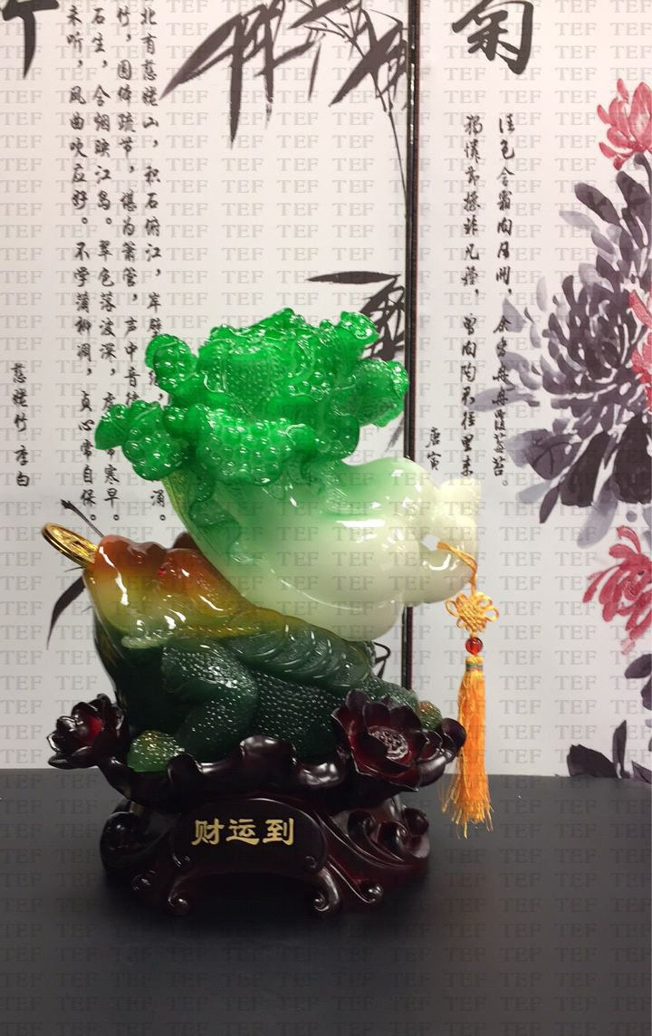 Wealthy Toad cabbage-For Home Decor/Front Desk/SPA/Gift/Collection