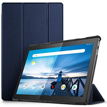 IVSO Funda Carcasa para Lenovo Tab M10, Slim PU Protectora Carcasa Cover para Lenovo Tab M10 10.1 Pulgadas, Azul