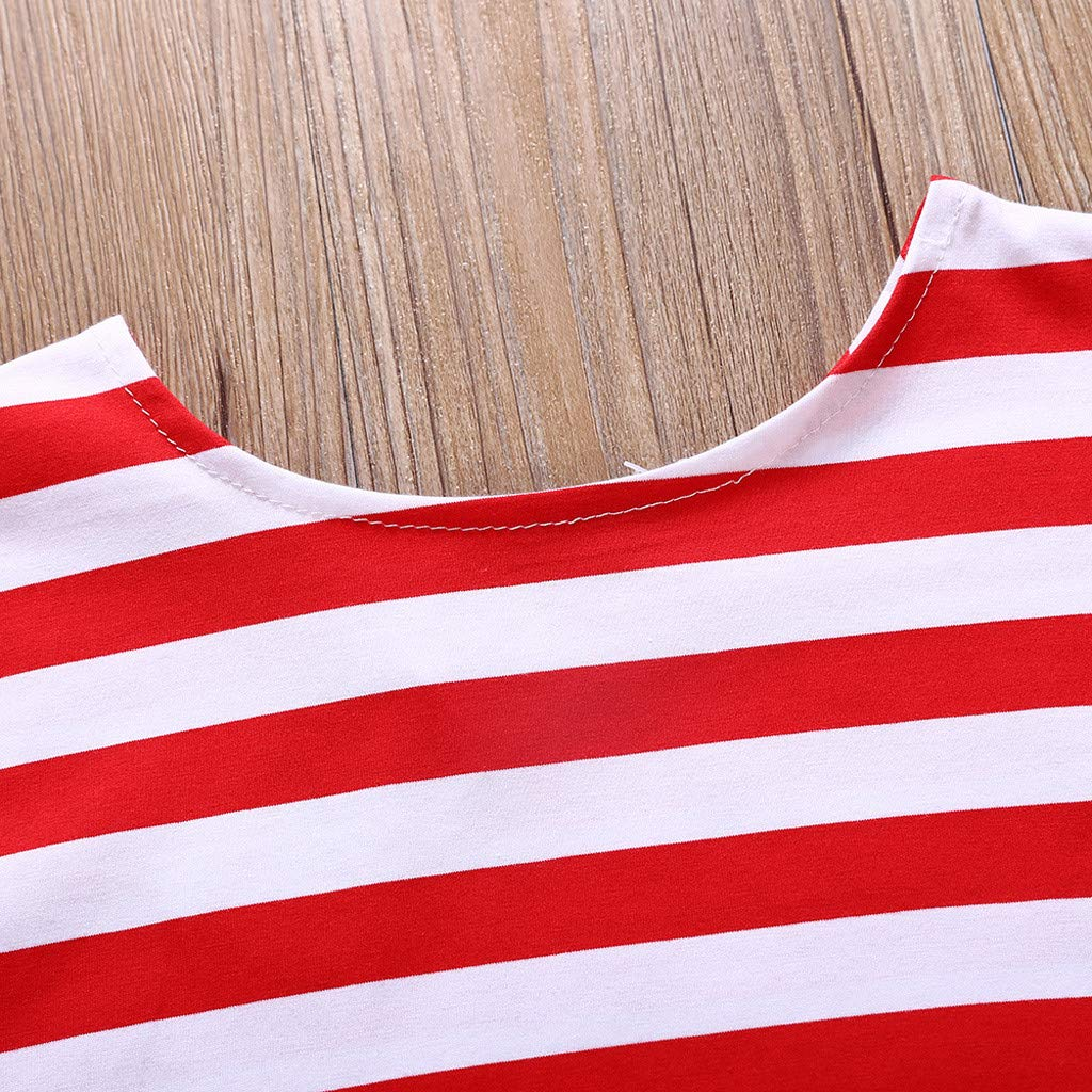Dsood 4th of July Baby Girls American Flag Tassel Romper Bodysuit Jumpsuit Outfits Set