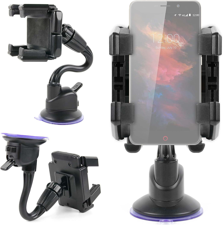 DURAGADGET Soporte De Coche para Smartphone UMI MAX | Touch | Super | Motorola Moto X Play | ZTE Axon Mini | Blackberry Priv: Amazon.es: Electrónica