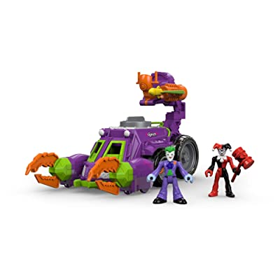 Fisher-Price Imaginext DC Super Friends Streets of Gotham City The Joker & Harley Quinn Battle Vehicle: Toys & Games