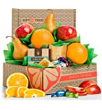 GiftTree Harvest Fruit and Snacks Sampler Gift Box | Includes Delicious Apples, Oranges, Pears, Pomegranate Truffles and Almond Roca | Great Gift for Holidays, Christmas, Birthday, Thank You