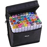 Staright 40 cores marcadores marcador de Ponta Dupla Caneta Esboçando Escrita Pintura marcador de Sublinhação Artista Desenho