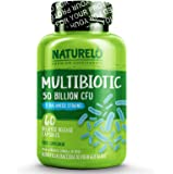NATURELO Probiotic Supplement - Best for Digestive Health and Immune Support - Ultra Strength Probiotics - 50 Billion…