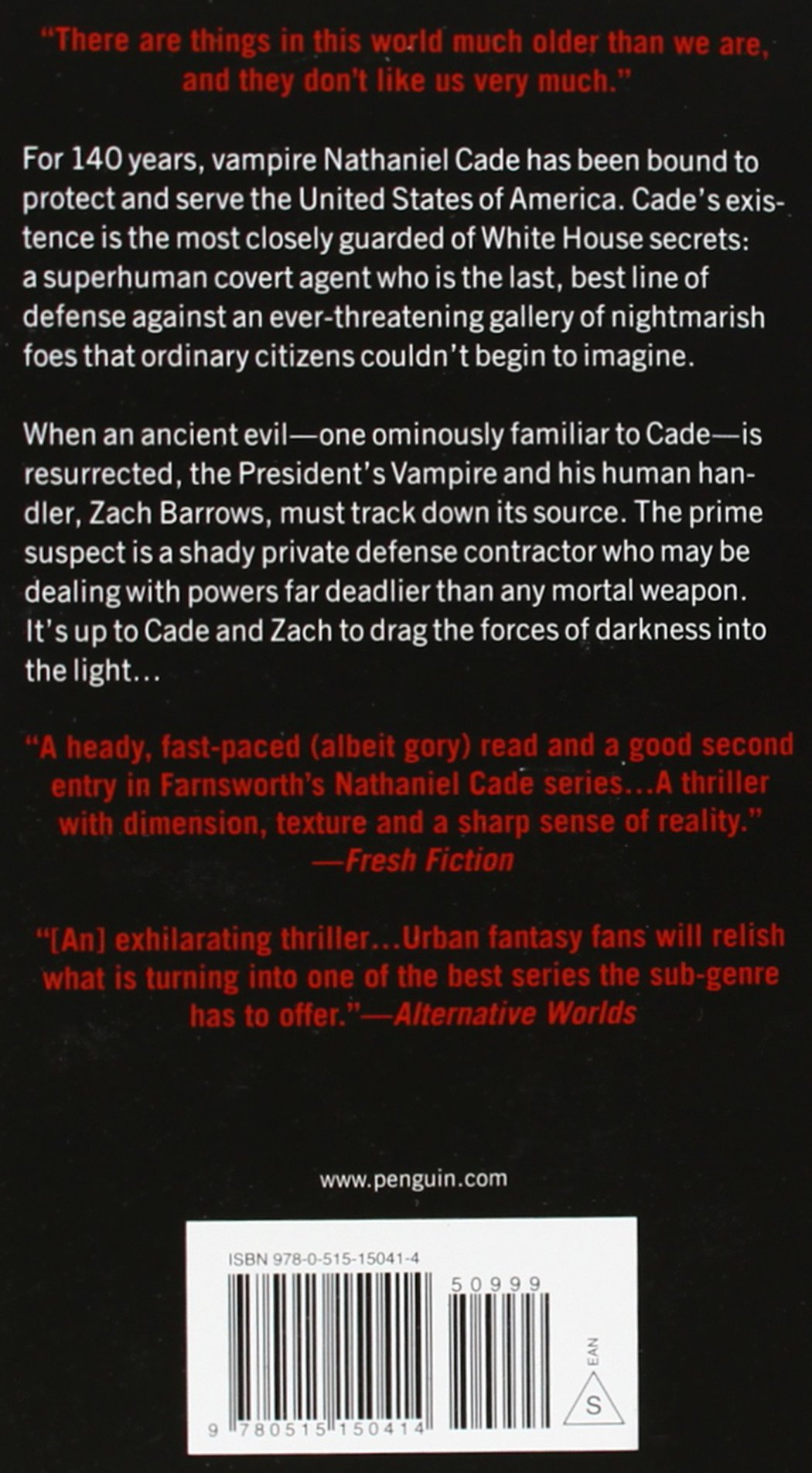 The President's Vampire (a Nathaniel Cade Novel): Christopher Farnsworth:  9780515150414: Amazon: Books