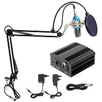 Tonor Microfono per PC da 3,5 mm Microfono a Condensatore per PC, Windows / Mac, per Chat Online, Podcasting, Registrazione