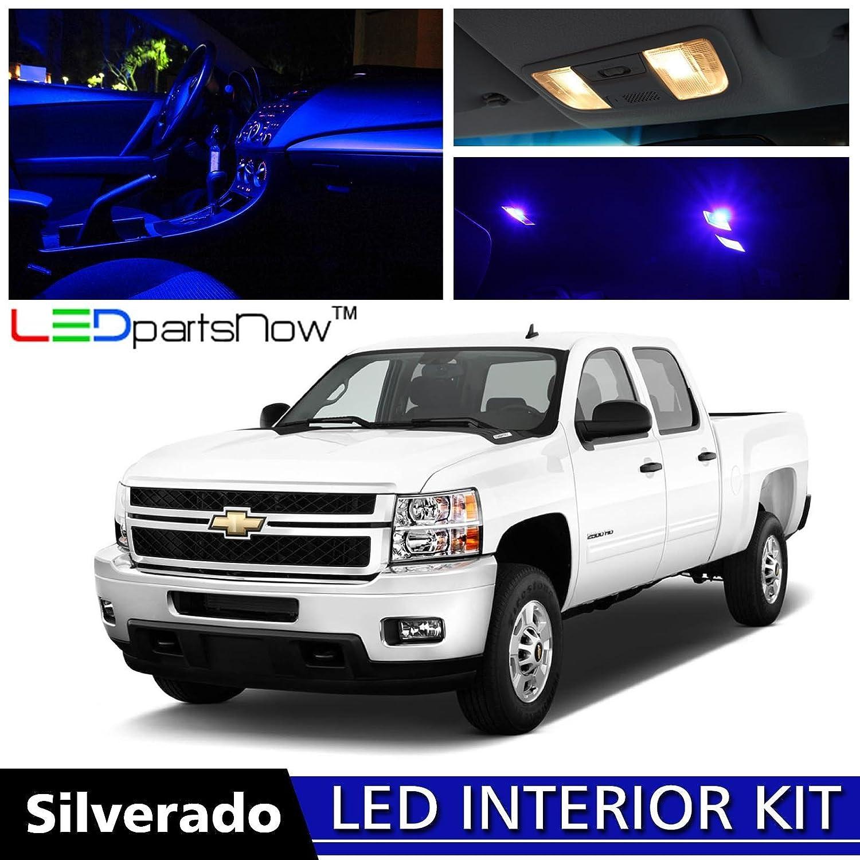 Amazon.com LEDpartsNow 2007-2013 Chevy Silverado LED Interior Lights Accessories Replacement Package Kit (12 Pieces) BLUE Automotive  sc 1 st  Amazon.com & Amazon.com: LEDpartsNow 2007-2013 Chevy Silverado LED Interior ... azcodes.com