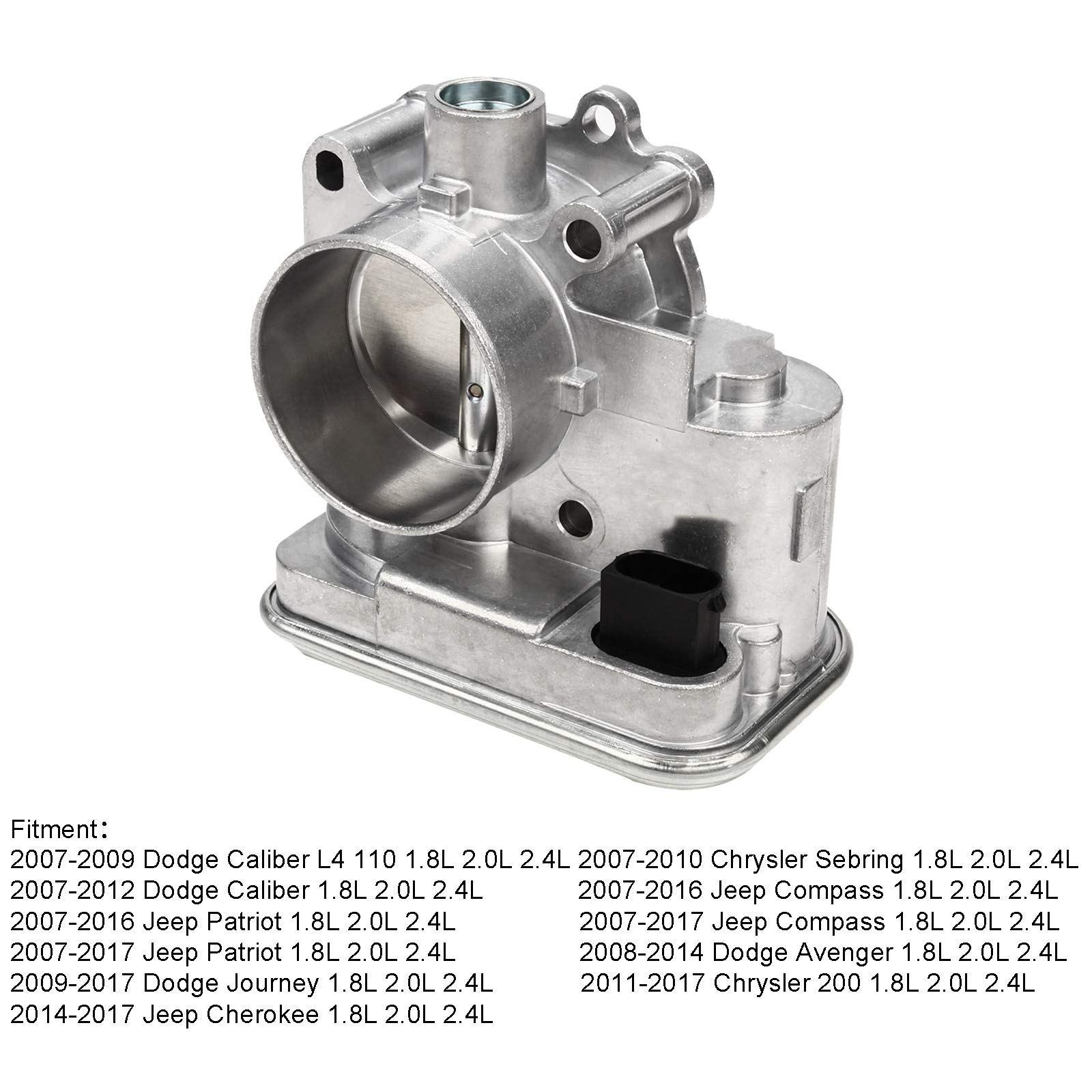 Superfastracing Complete Throttle Body With IAC Idle Air Control TPS Actuator Assembly For Chrysler 200/Sebring Dodge Journey/Avenger Jeep Cherokee/Patriot Replace 04891735AC 4891735AB 4891735 977-025 by SUPERFASTRACING